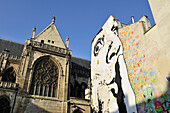 'France, Paris, 4th district, District ''Beaubourg'', Place ''Igor Stravinsky'', Mural painting, in the Stencil and Spray can (Creation: ''François Perroy'' alias '' Jef Aérosol '', June, 2011)'
