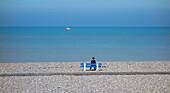 France, Normandie, Seine Maritime (76), Le Treport beach