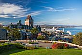 Canada, Quebec City, Old Quebec, Frontenac Castle