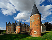 France, Eure, local public institution of agricultural education. Brick castle, several tour