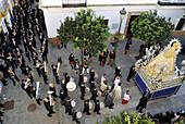 SPAIN, Andalusia, procession in Rota in the region of Cadiz