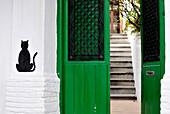 SPAIN, Andalusia, Granada, facade in the district of Albaicin