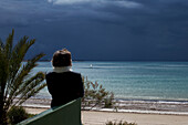 SPAIN, Andalusia, beach of Rota, region of Cadiz. Costa de la Luz.