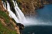 Turkey, Antalya, tourist town on the Mediterranean coast, waterfall Karpuzkaldiran