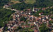 France, Allier (03), Chantelle, on the spur the Saint-Vincent (aerial view)