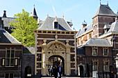 Netherlands, The Hague, The door of the grenadiers.