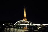 France, Paris, Eiffel tower by night