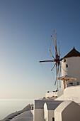 'Greece, Windmill; Oia'