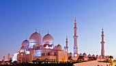 'Sheikh Zayed Grand Mosque at sunrise; Abu Dhabi, United Arab Emirates'