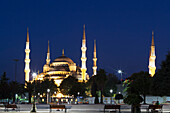 'Blue Mosque at nighttime; Istanbul, Turkey'