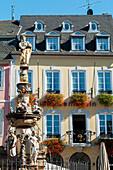 'Colourful buildings in the market place; Trier, Rheinland-Pfaltz, Germany'