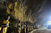 'Buddhist statues in Saddar cave close to Hpa-An; Kayin State, Burma'