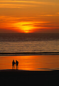 Silhouetted Lovers, Beach Sunset
