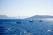 Sailboats On The Aegean Sea, Greece