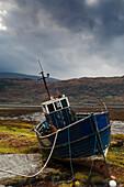 Boat Ashore, Loch Sunart, Scotland