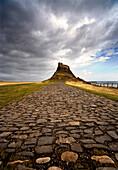 Lindisfarne Castle On A Volcanic Mound Called Beblowe Craig, Holy Island, England