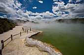 Champagne Pool At Geothermal Site Wai-O-Tapu Thermal Wonderland On North Island Of New Zealand
