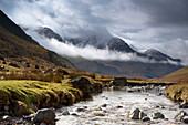 Mountains And River, Lake District, Cumbria, England, United Kingdom