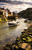 Boats On A River, Staithes, North Yorkshire, England