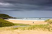 Storm Clouds Over Beach, Scotland