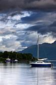 Boats Under Stormy Sky, Scotland