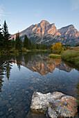'Mount Kidd, Kananaskis, Alberta, Canada; Canadian Rockies At Sunrise'