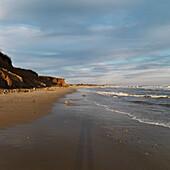Beach And Ocean Shoreline, Sag Harbor, New York, Usa