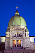 'Montreal, Quebec, Canada; Saint Joseph's Oratory At Dusk'