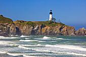 'Yaquina Head Lighthouse On The Oregon Coast; Oregon, Usa'