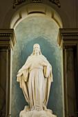 'Statue Of Jesus Inside The Notre-Dame De Quebec Basilica - Cathedral; Quebec City, Quebec, Canada'