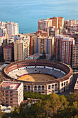 'La Malagueta Bullring And Port; Malaga, Andalusia, Spain'