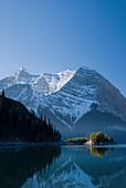 'The Upper Lake At Sunrise; Kananaskis, Alberta, Canada'