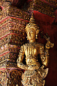 'Statue In Wat Phra Singh Temple; Chiang Mai, Thailand'