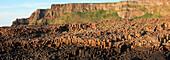 'Natural Basalt Column Rock Formations; Giant's Causeway, County Antrim, Northern Ireland'