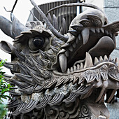 'Close-Up Face Of A Statue Of Animal Likeness; Nagasaki, Japan'