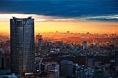 'City Skyline At Sunset; Tokyo, Japan'
