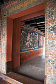 'View Into A Building In The Punakha Dzong; Punakha District Bhutan'