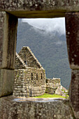'Buildings In The Historic Inca Site Machu Picchu; Peru'