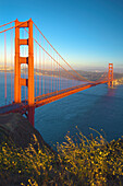 'Golden Gate Bridge At Sunset; San Francisco California Usa'