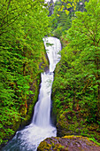 'Bridal Veil Falls In Columbia River Gorge National Scenic Area In The Pacific Northwest; Oregon, United States of America'