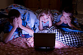 Kids Watching Scary Movie