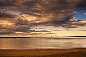Sunset On The Beach, South Shields, Tyne And Wear, England