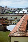 'Florence, Italy; The Vasari Corridor'