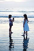 'Children On The Beach; Puerto Vallarta, Mexico'