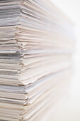 Stack Of Office Paper Documents