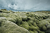 'Rugged Terrain Under A Cloudy Sky; Iceland'