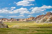 'Colorful Landscape In Badlands National Park; South Dakota, United States of America'