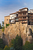 'The Hanging Houses Which Now House The Museum Of Spanish Abstract Art; Cuenca, Cuenca Province, Castilla-La Mancha, Spain'