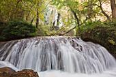 'Waterfall In Natural Park Monasterio De Piedra; Zaragoza Province, Aragon, Spain'