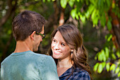 'Newlywed Couple Spending Time Together In A Park; Edmonton, Alberta, Canada'